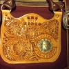 Maroon canvas, prize for the women's all-around at the Killdeer, ND, HS rodeo
